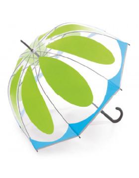 Sombrinha Transparente Automática Flower Green | Benetton