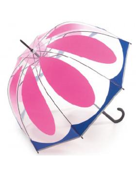 Sombrinha Transparente Automática Flower Pink | Benetton