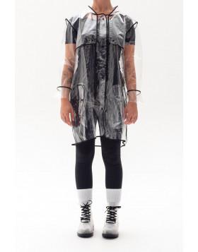 Capa de Chuva Transparente Debrum Preta | Fazzoletti