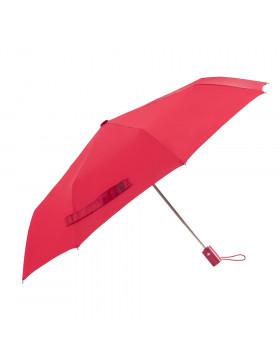 Guarda-chuva Mini Automático Cabo Reto Vermelho | Fazzoletti