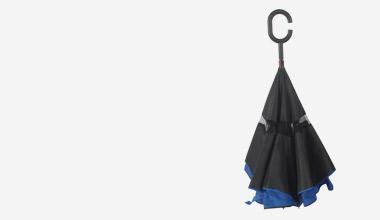 Guarda-chuva Fecha ao Contrário